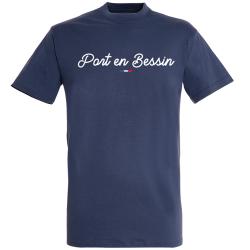 T-shirt Marine + Drapeau +  Port-en-Bessin